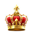 golden royal crown with jewels heraldic elements vector image vector image