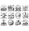 golf sport game icons and symbols vector image vector image