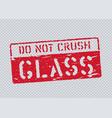 grunge glass pictogram on transparent background vector image vector image
