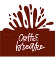 hand drawn banner with hot coffee and linear vector image vector image