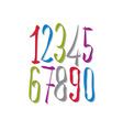 Hand written fresh numbers stylish drawn numbers