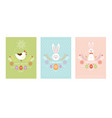 happy easter card design vector image