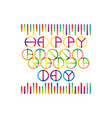 happy friendship day lettering vector image vector image
