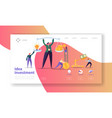 innovation investment landing page invest in idea vector image vector image