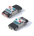 isometric police car vector image vector image