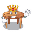 king wooden table isolated on the mascot vector image vector image
