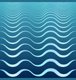 light blue and blue decorative cartoon waves vector image