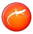 Lizard icon flat style vector image vector image