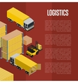 Logistics isometric concept with warehouse vector image vector image