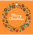 merry christmas colorful social media banner vector image vector image