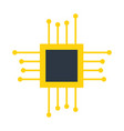 motherboard circuit technology vector image