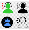 operator talk eps icon with contour version vector image vector image
