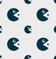 pac man icon sign Seamless pattern with geometric vector image vector image