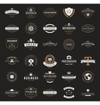 Retro Vintage Logotypes or insignias set vector image vector image