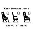 safe social distance banner for travelling vector image