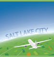 salt lake city flight destination vector image vector image