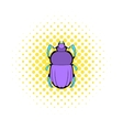 Scarab icon in comics style vector image vector image