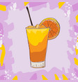 screw driver cocktail alcoholic bar drink hand vector image vector image