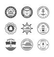 Sea Port Label Set vector image vector image