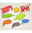 Set of comic style colorful clouds vector image vector image