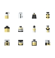 Set of male perfumes simple flat icons vector image