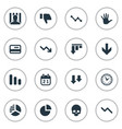set of simple situation icons vector image vector image