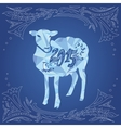 Sheep and 2015 vector image vector image