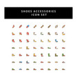 shoes icon set with filled outline style design vector image
