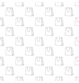Shopping bag pattern seamless vector image