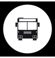 simple front view school bus public transpor icon vector image