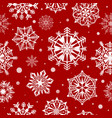 snowflakes seamless pattern abstract christmas vector image vector image
