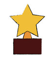star trophy isolated icon vector image vector image