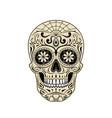 stylized decorative sugar skull on white vector image vector image