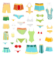 summer clothing icons vector image vector image