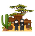 two muslim girls in western town vector image vector image