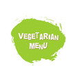 vegetarian menu eco fresh green design template vector image vector image