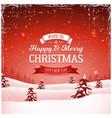 vintage christmas landscape background vector image vector image