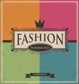 Vintage fashion background vector image vector image