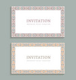 wedding cards with ornamental borders vector image