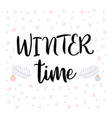 winter time christmas greeting card vector image vector image