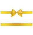 yellow bow and ribbon vector image vector image