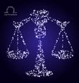 Zodiac sign of libra made of stars vector image vector image