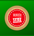 holiday banner of winter sale red golden green vector image