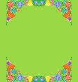 bright floral pattern arranged as frame vector image