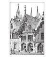 a medieval shop storefront vintage engraving vector image vector image