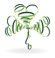 Abstract shamrock with ribbons vector image