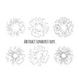 abstract sunburst rays with arrows different type vector image vector image