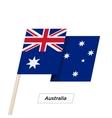 Australia Ribbon Waving Flag Isolated on White vector image