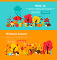 autumn website banners vector image vector image