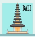 bali temple flat style vector image